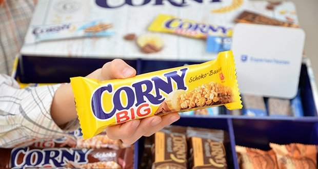 Corny Bestseller-Box mit 6 verschiedenen Klassikern im Test - Corny BIG Schoko-Banane ist eine leckere Kombination aus Banane und Schokolade im XXL-Format