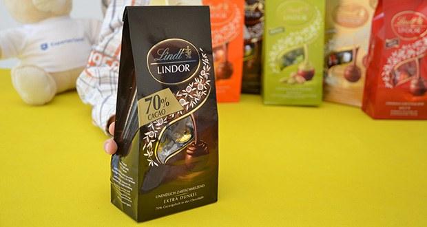 Lindt & Sprüngli Lindor Beutel Set im Test - Extra-Dunkel - 70% Cacaogehalt in der Schokolade