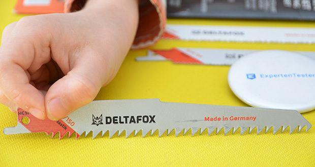 DELTAFOX 3er Pack Säbelsägeblätter im Test - 1x 150 mm: flexibles Universalblatt aus Bi-Metall für alle Holzarten mit Metallrückständen