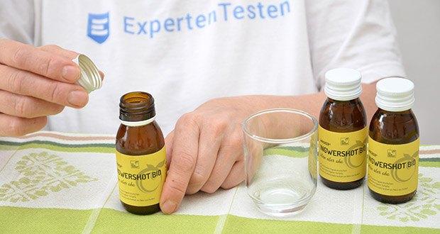 Wacker Ingwershot Bio im Test - mit handgeschälten Bio-Ingwerstückchen aus Peru