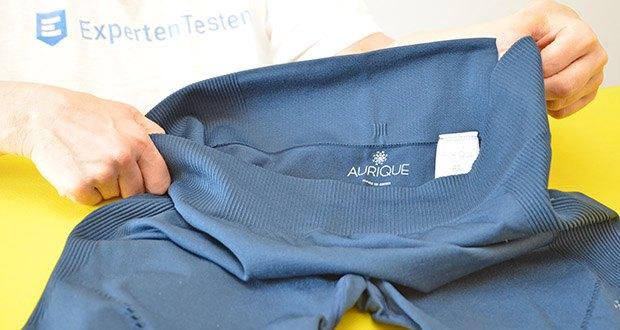 AURIQUE Damen Sportleggings Blau im Test - Verschluss: Elastischer Bund