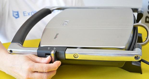 Breville Panini Grill Sandwichtoaster im Test - dank Scharnierdeckel lassen sich Sandwiches unterschiedlicher Dicke toasten