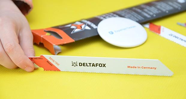 DELTAFOX 3er Pack Säbelsägeblätter im Test - 1x 200 mm: flexibles Universalblatt aus Bi-Metall für Stahl, rostfreie Stähle, Buntmetalle bis 8 mm Dicke