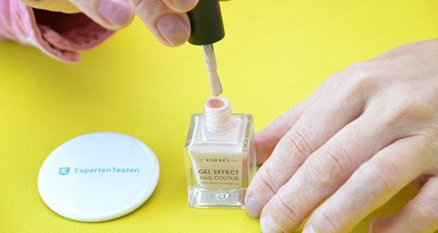Korres Sweet Almond Oil Gel Effekt Nagellack im Test - keine UV-Lampe benötigt