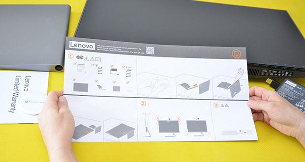 Lenovo Q24h-10 24 Zoll Monitor im Test - die SmartPower-Funktion liefert eine dynamische Stromversorgung bis zu 80 W für kompatible Geräte mit USB-C Anschluss
