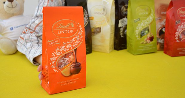 Lindt & Sprüngli Lindor Beutel Set im Test - Orange-Milch