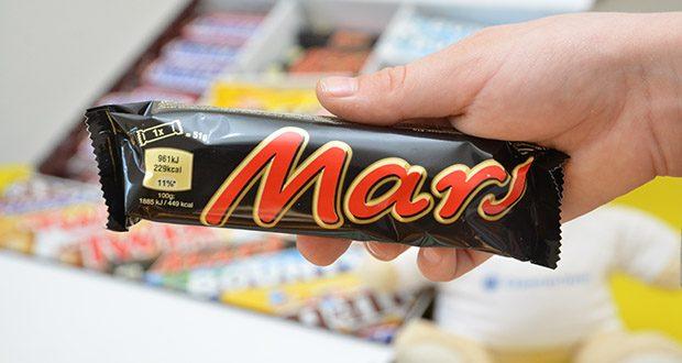 Mars Mixed Box Schokoriegel im Test - Mars: Zutaten / Inhaltsstoffe: Zucker, Glukose-Sirup, Kakaobutter, Vollmilchpulver, Kakaomasse, Sonnenblumenöl, Magermilchpulver, Milchzucker, Süßmolkenpulver (aus Milch, fettarmer Kakao, Butterreinfett (aus Milch, Gerstenmalzextrakt, Emulgator (Sojalecithin, Salz, Palmfett, Hühnerei-Trockeneiweiß, Milcheiweißhydrolysat, natürlicher Vanilleextrakt
