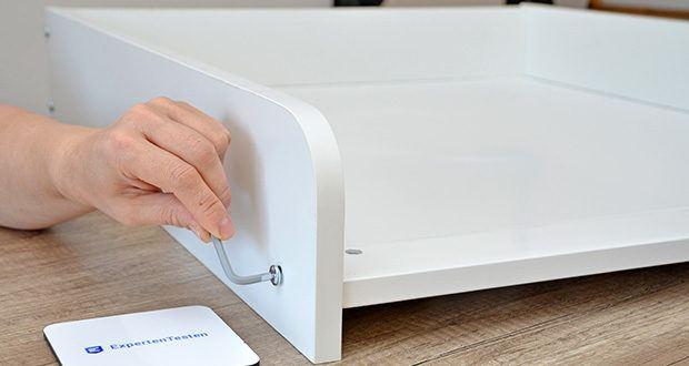 roba Wickelplatte mit Wickelauflage im Test - platzsparend und sicher
