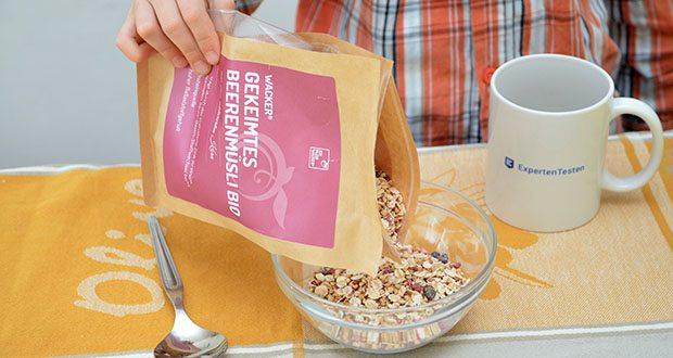 Wacker Gekeimtes Beerenmüsli Bio im Test - beim Keimvorgang verändert sich die Zusammensetzung des Korns - es erwacht zum Leben und biochemische Prozesse werden angestoßen