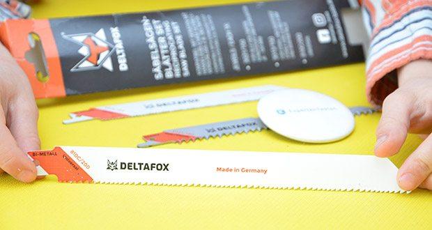 DELTAFOX 3er Pack Säbelsägeblätter im Test - 1x 150 mm: für schnelle, gerade Schnitte in allen Holzarten, Kunststoff, Gipskarton bis 100 mm Dicke