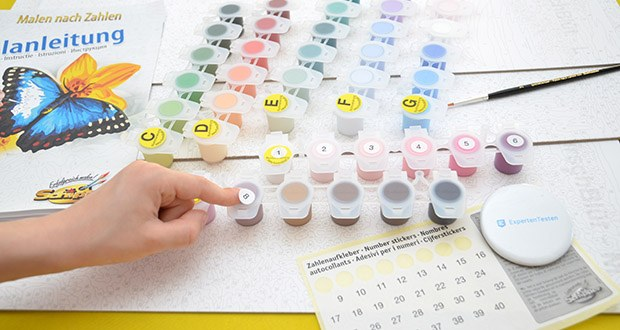 Schipper Malen nach Zahlen, Kirschblüte in Japan im Test - Sie können gleich loslegen, denn das Set beinhaltet alles, was sie zum Malen benötigen