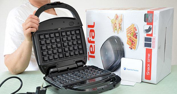 Tefal Snack Time SW341B Waffeleisen & Sandwichtoaster im Test - antihaftbeschichtete, austauschbare Platten