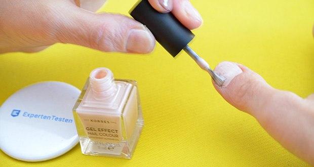 Korres Sweet Almond Oil Gel Effekt Nagellack im Test - bietet brillanten Glanz und lang anhaltende Resultate