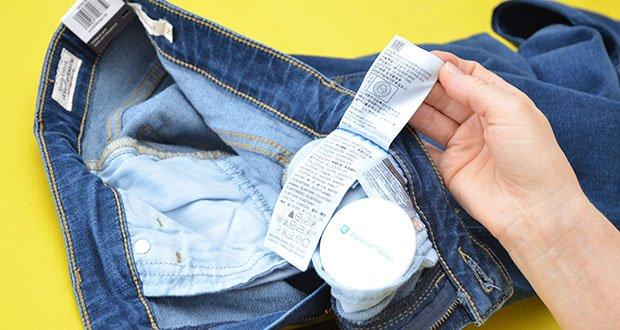 Levi's Damen 725 High Rise Bootcut Jeans im Test - Pflegehinweis: Maschinenwäsche