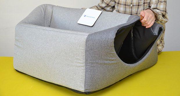 Rexproduct Up and Down Premium Hundehütte & Hundebett im Test - man kann den Artikel kinderleicht mit einem Hand zusammen- und aufklappen