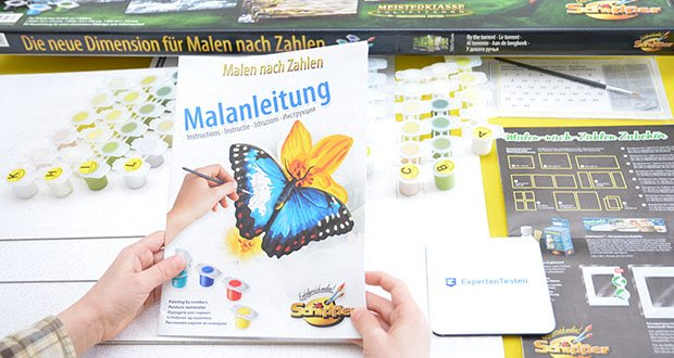 Schipper Malen nach Zahlen, Am Wildbach im Test - bebilderte Anleitung