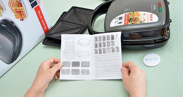Tefal Snack Time SW341B Waffeleisen & Sandwichtoaster im Test - vertikale Lagerung möglich