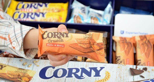 Corny Bestseller-Box mit 6 verschiedenen Klassikern im Test - CORNY Crunch Hafer & Honig enthält wertvollen Hafer aus dem vollen Korn und leckeren goldgelben Bienenhonig