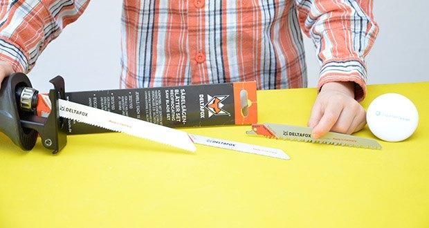 DELTAFOX 3er Pack Säbelsägeblätter im Test - kompatibel zu Geräten mit handelsüblichem Schnell-Verschluss