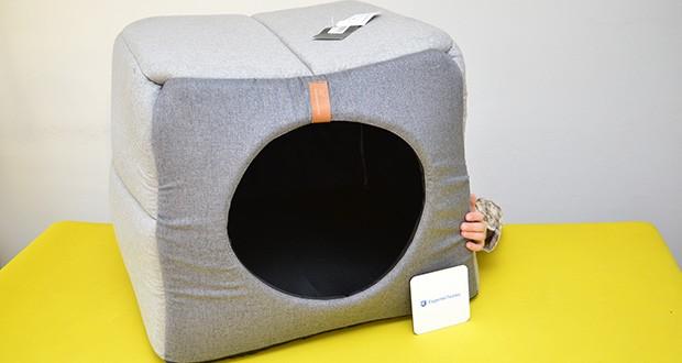 Rexproduct Up and Down Premium Hundehütte & Hundebett im Test - die Hundehütte wandelt sich in einem Hundebett um