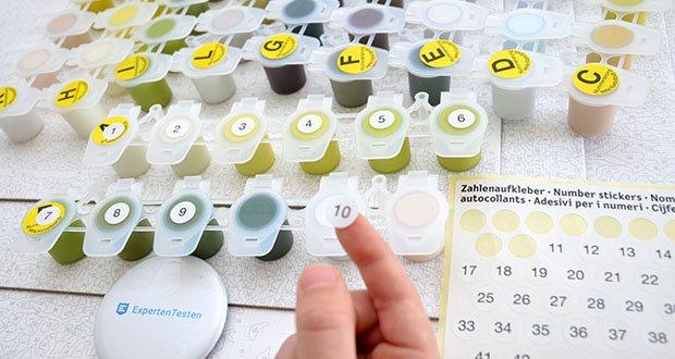 Schipper Malen nach Zahlen, Am Wildbach im Test - Sie können gleich loslegen, denn das Set beinhaltet alles, was sie zum Malen benötigen