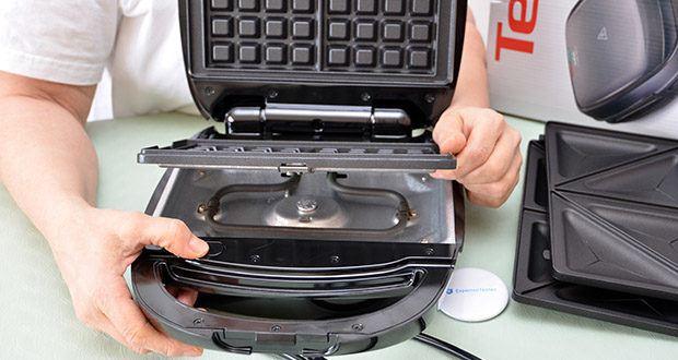 Tefal Snack Time SW341B Waffeleisen & Sandwichtoaster im Test - antihaftbeschichtete, spülmaschinengeeignete Plattensets zum Herausnehmen und Austauschen