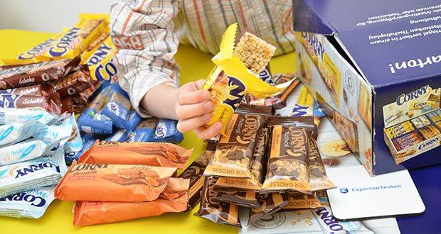 Corny Bestseller-Box mit 6 verschiedenen Klassikern im Test - der perfekte Snack für zuhause oder unterwegs