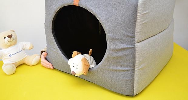 Rexproduct Up and Down Premium Hundehütte & Hundebett im Test - eine Sonderbeschichtung des Produktes schützt vor Kratzern