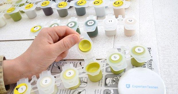 Schipper Malen nach Zahlen, Am Wildbach im Test - kein Farbmischen nötig