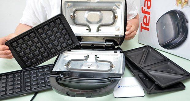 Tefal Snack Time SW341B Waffeleisen & Sandwichtoaster im Test - inklusive 2 Platten-Sets (Waffeln und Sandwich-Toast)