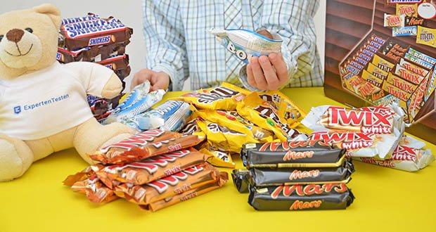 Mars Mixed Box Schokoriegel im Test - mit den bekannten Bestsellern Mars, Snickers, Twix, Twix White, Bounty und M&M's Peanut