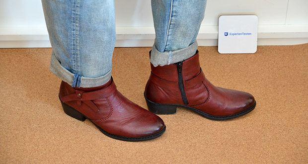 Rieker Damen Stiefel im Test - eine Passform, die dort Raum bietet, wo sich das Volumen der Füße im Lauf des Tages vergrößert