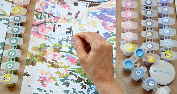 Schipper Malen nach Zahlen, Kirschblüte in Japan im Test - kann jeder, der gerne malt, kleine Kunstwerke auf die Leinwand zaubern