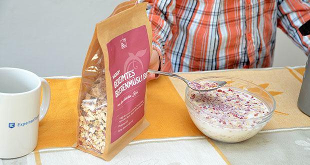 Wacker Gekeimtes Beerenmüsli Bio im Test - Beerenmüsli mit gekeimtem Buchweizen & gekeimten Haferflocken