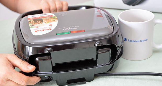 Tefal Snack Time SW341B Waffeleisen & Sandwichtoaster im Test - Ein-/Ausschalter