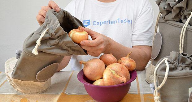 Glückstoff Aufbewahrungsbox 3er-Set aus Stoff im Test - halten besonders Gemüse und Brot länger frisch