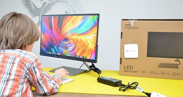 Lenovo Q24h-10 24 Zoll Monitor im Test - mit hoher QHD-Auflösung (2560 x 1440)