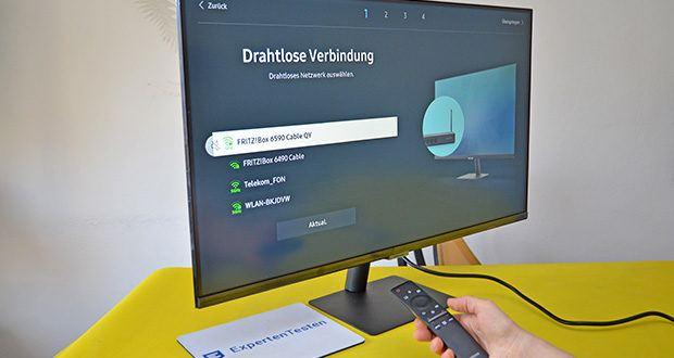 Samsung M5 Smart Monitor 32 Zoll im Test - die Full HD-Auflösung bedeutet eine hohe Pixelanzahl, sodass Fotos und Videos klar wiedergegeben werden