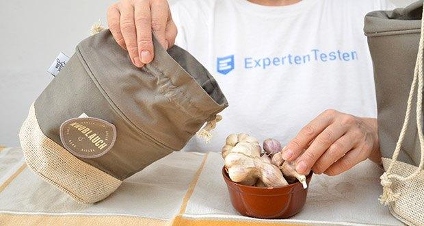 Glückstoff Aufbewahrungsbox 3er-Set aus Stoff im Test - vorallem Gemüse kannst du länger frischhalten, da der Stoff sowohl luftdurchlässig ist, als auch Feuchtigkeit speichert