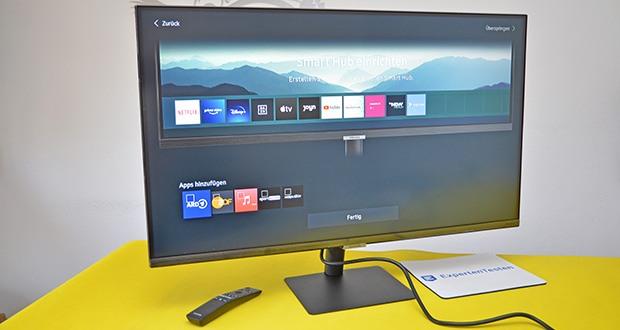 Samsung M5 Smart Monitor 32 Zoll im Test - greifen Sie ganz ohne PC auf eine Reihe von Smart TV-Apps wie Netflix, YouTube, Prime Video, Disney+ und HBO zu