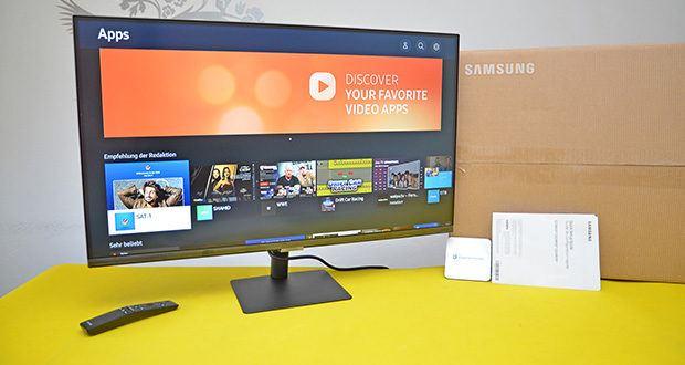 Samsung M5 Smart Monitor 32 Zoll im Test - Weltweit der erste PC-lose Smart Bildschirm