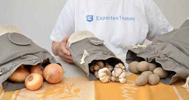 Glückstoff Aufbewahrungsbox 3er-Set aus Stoff im Test - hält Knospengemüse 27% länger frisch als bei Lagerung in herkömmlichen Vorratsbehältern