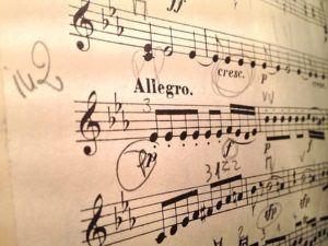 Noten für das E-Piano