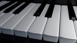 Tasten eines Pianos