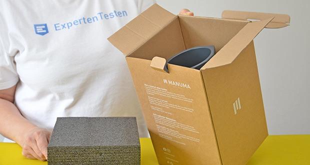 MANUMA Charles Design Weinkühler im Test - Maße: 21,0 cm x Ø 10,7cm (Außen) sowie 9,1 cm (Innen)