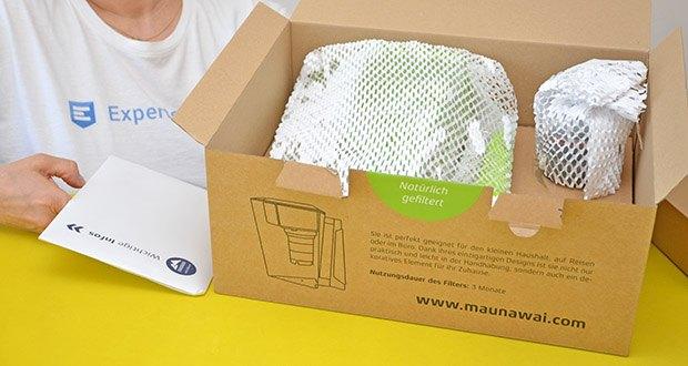 MAUNAWAI NEU Kanne Kini Tischwasserfilter im Test - Biokompatibilität (ISO 10993) und Lebensmittelverträglichkeit (FDA)