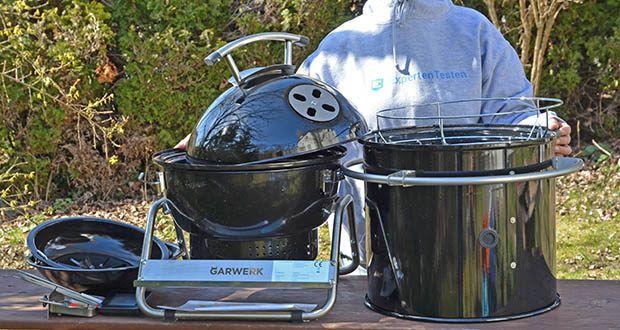 GARWERK Smokey Sam Junior im Test - Material: Grillkörper aus Stahl, Griffe und Ständer aus Edelstahl