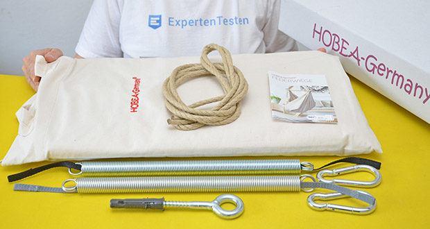 HOBEA-Germany Federwiege für Babys im Test - zwei Federn im Lieferumfang enthalten: 1x Feder für 3 - 8 kg, 1x Feder für 5-15 kg