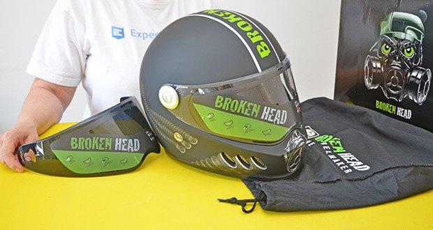 Broken Head Motorradhelm Gasman im Test - inkl. schwarzem Visier
