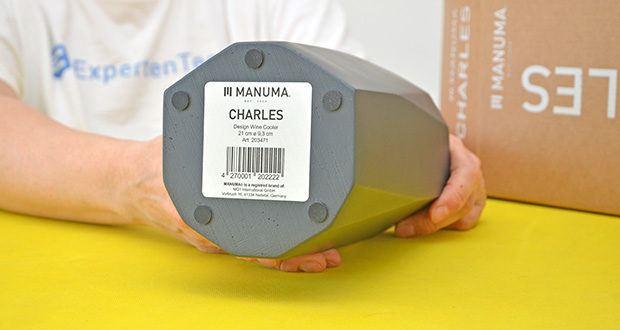 MANUMA Charles Design Weinkühler im Test - stillvoll designed und von Hand gefertigt